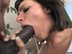 An Exciting Brunette Yulent Ventura That Gets Amazement On Her Face